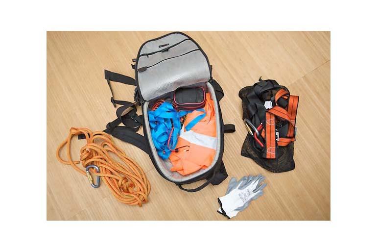 Equipment für On-Location-Fotografie: Rucksack Sicherheit und Transportwagen