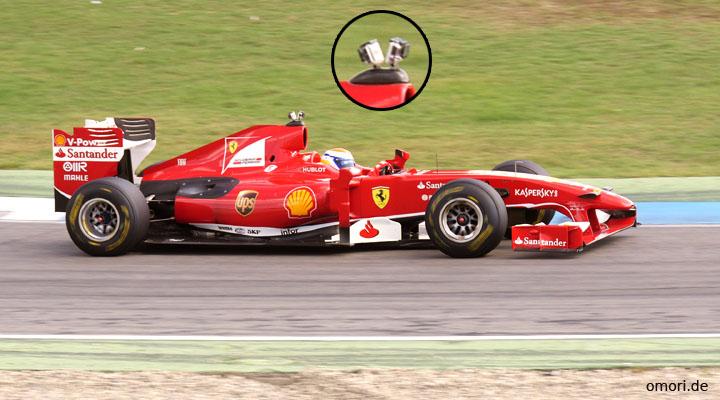 Onboard-Kamera in der Formel 1
