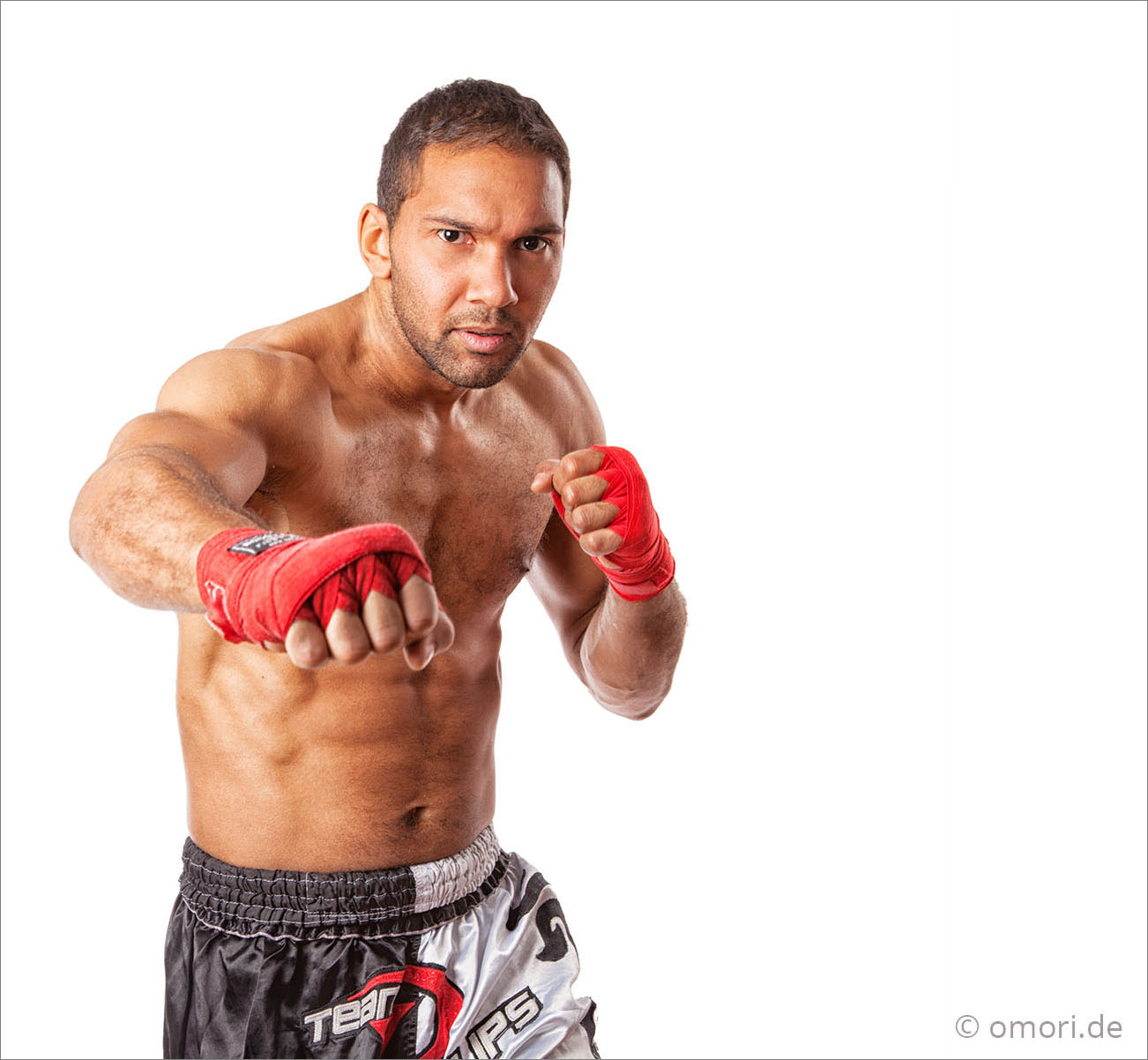 Foto eines Kick-Boxers